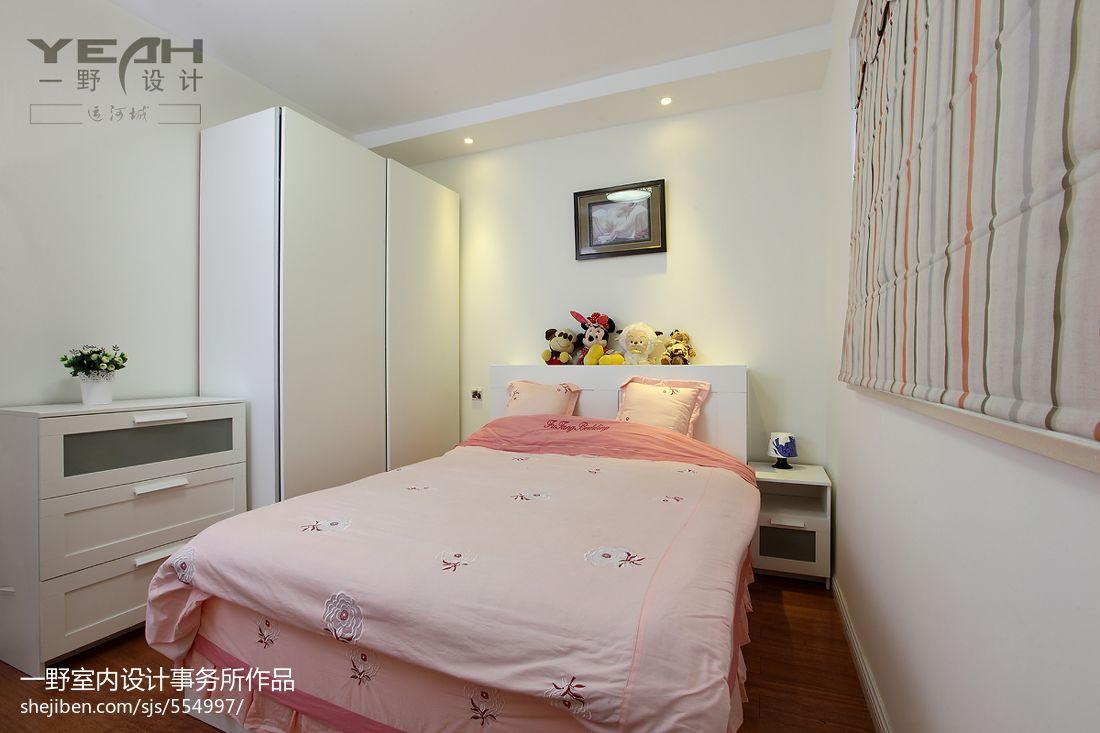 热门101平米三居儿童房混搭装修欣赏图片