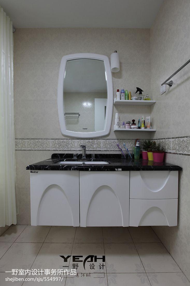 面积100平混搭三居卫生间效果图片大全