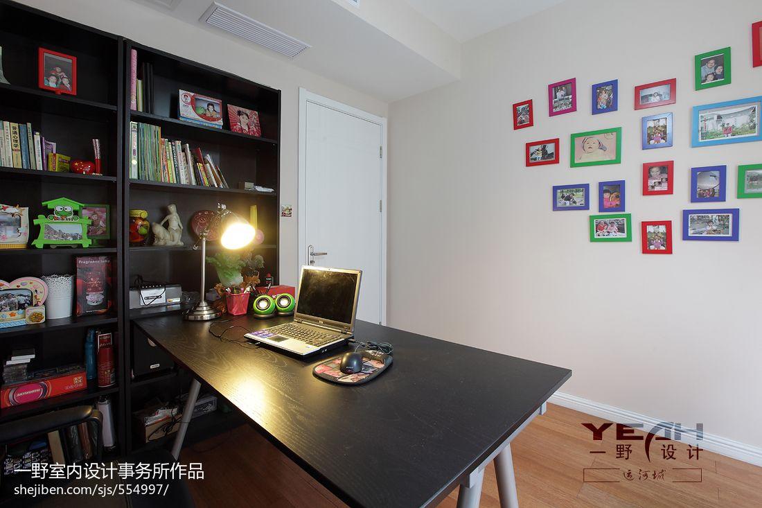 面积98平混搭三居书房装修设计效果图片