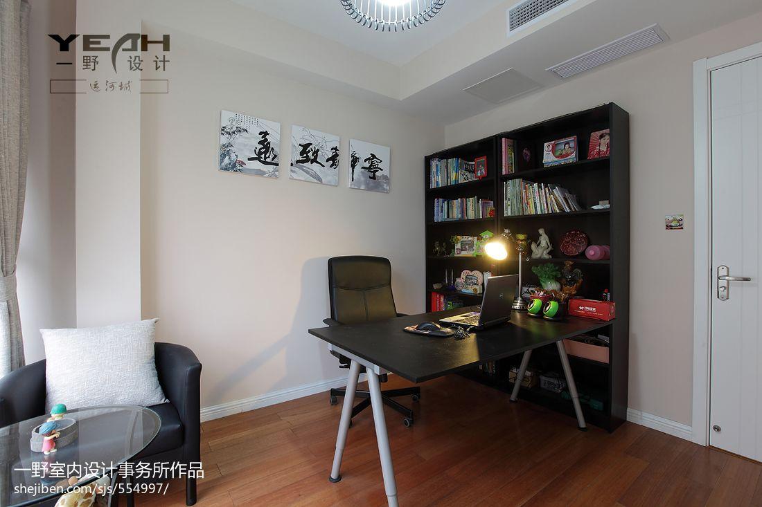 热门面积100平混搭三居书房装修效果图片大全