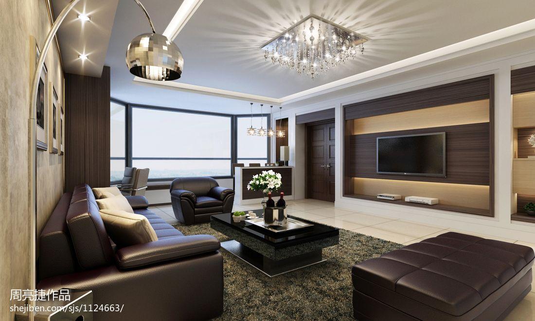 现代中式设计室内窗帘装修效果图