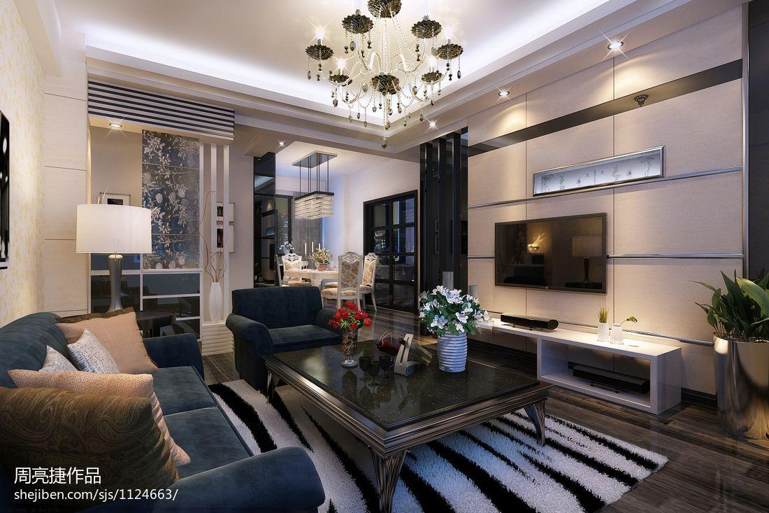 现代中式别墅卧室效果图欣赏