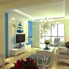 地中海客厅电视墙