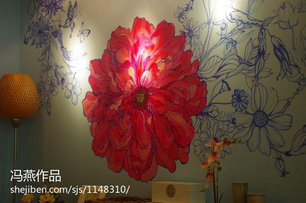 简约中式餐厅装潢图