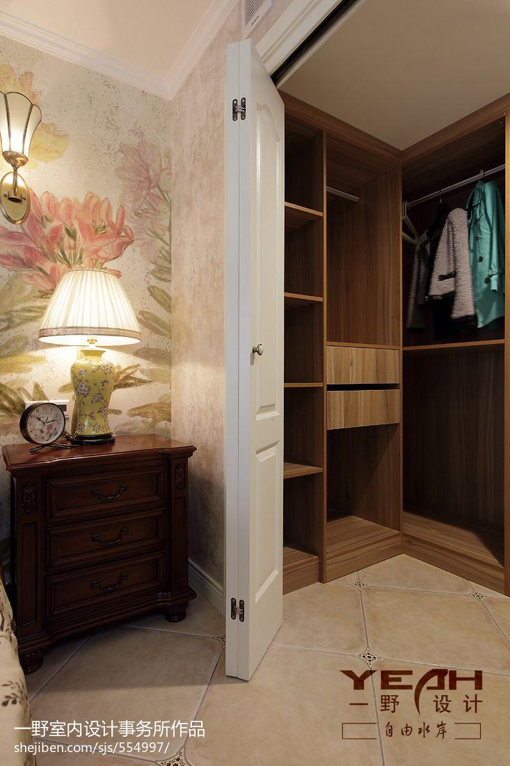 休閑美式復式樓臥室衣帽間裝修圖片