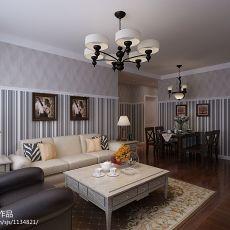 2018精选面积90平混搭二居客厅装修效果图