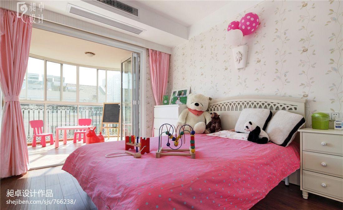 现代风粉红儿童公主房装修效果图实景