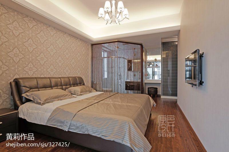 热门122平方四居卧室混搭实景图片