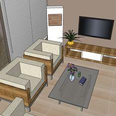 创意混搭风格小户型客厅装修色彩效果图