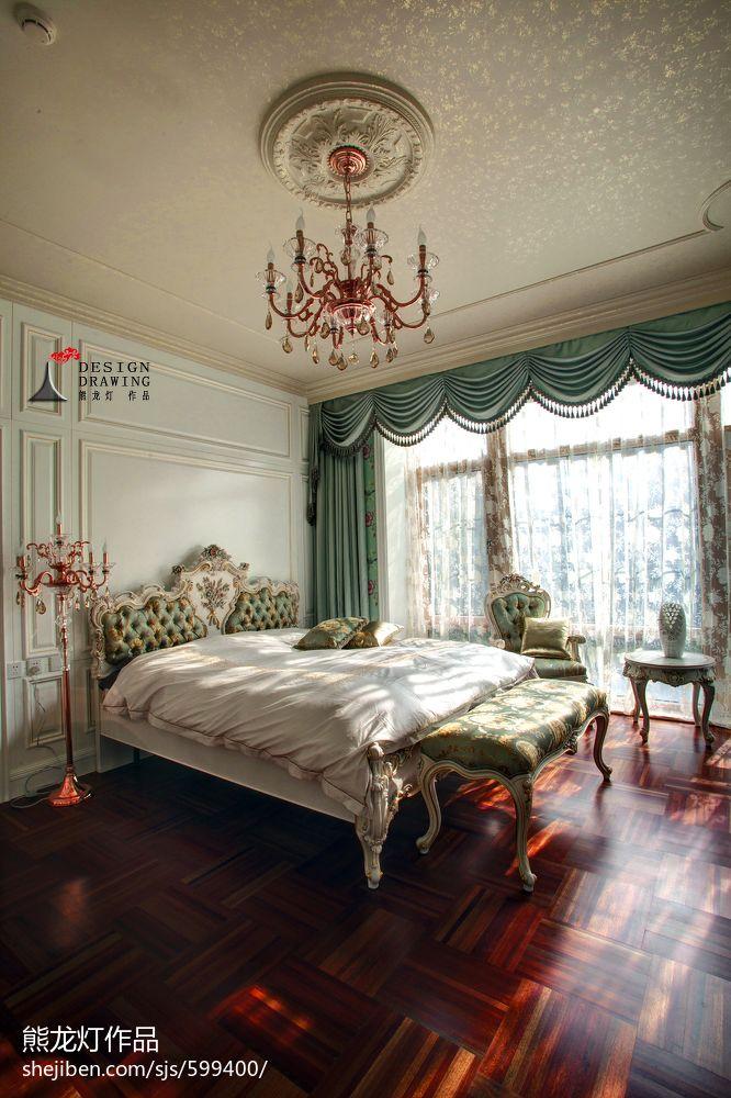 欧式别墅卧室窗户装修效果图