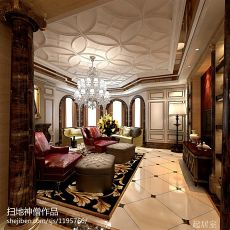 热门133平方混搭别墅客厅装修实景图