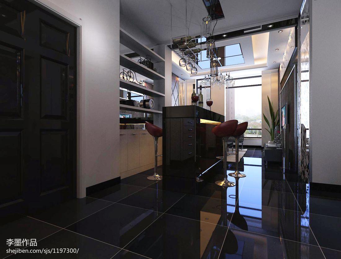 明亮简约风格两居室室内装修效果图