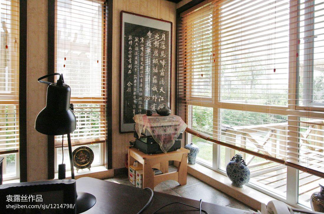 中式书房玻璃隔断