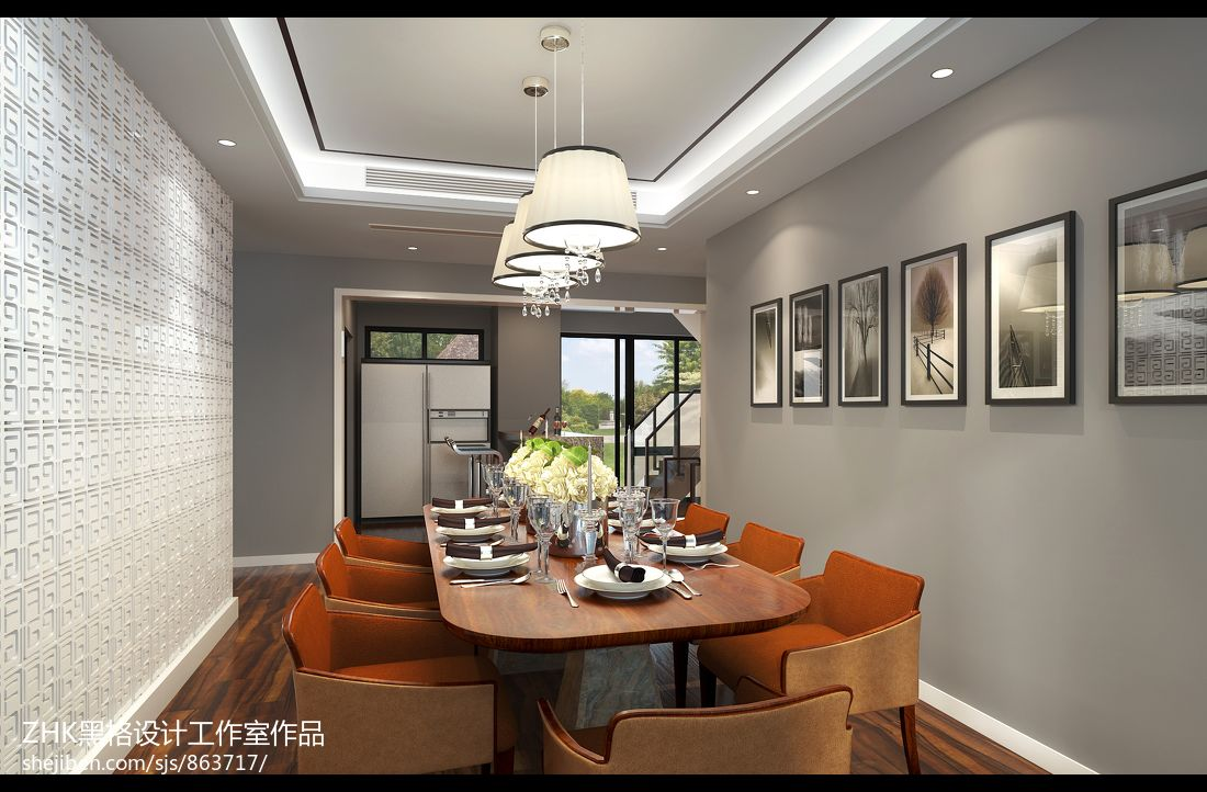 现代简约格调餐厅装修