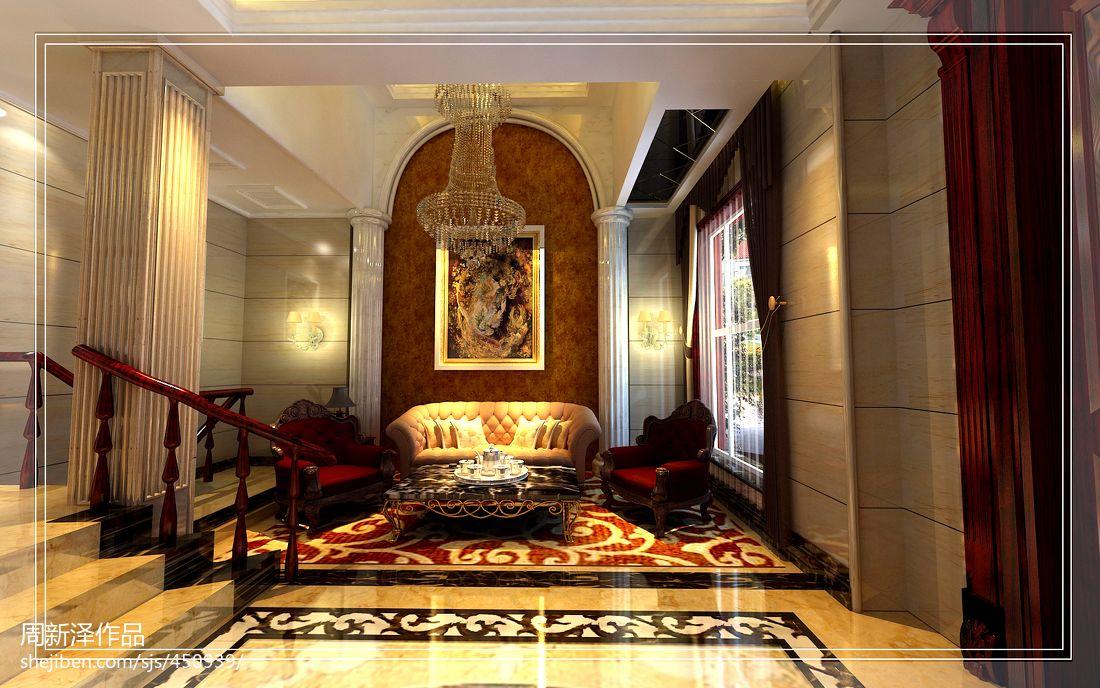 欧式轻奢华客厅设计装修