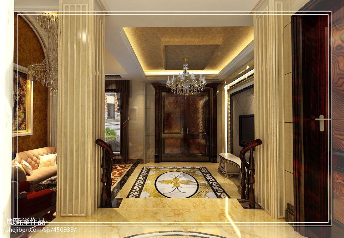欧式轻奢华浪漫客厅设计效果图