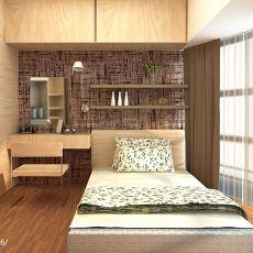 精选面积104平现代三居卧室装修效果图片