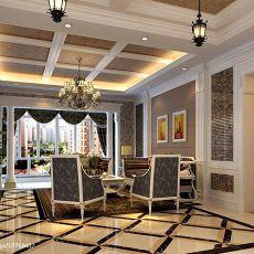 热门大小104平中式三居客厅装修设计效果图片大全