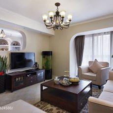 热门104平大小客厅三居混搭装修欣赏图
