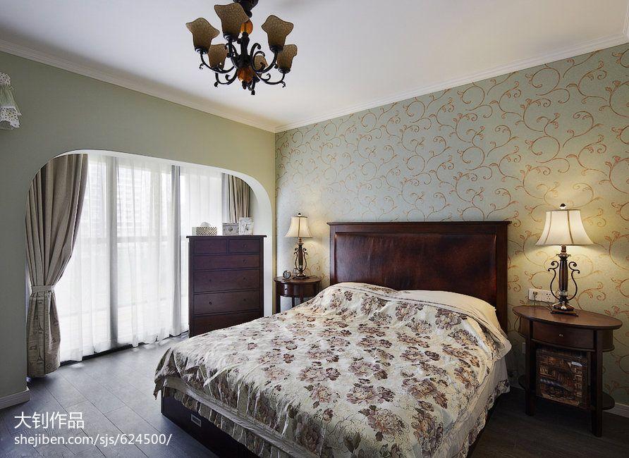 98平方三居卧室混搭装修实景图片