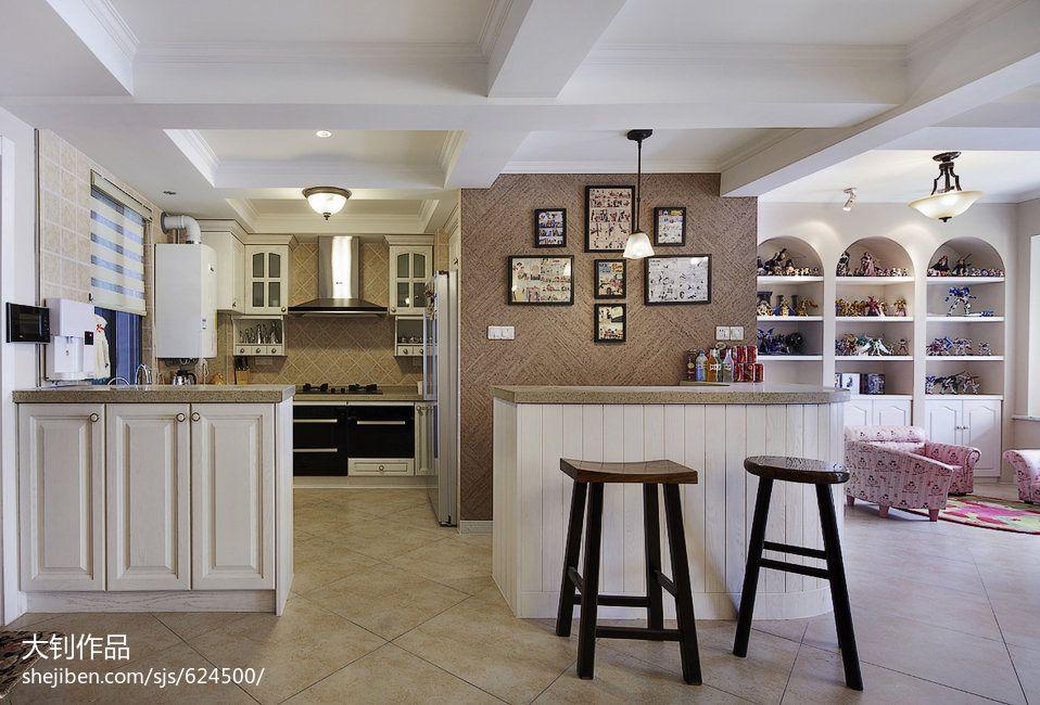 精美面积102平混搭三居厨房装修欣赏图片大全