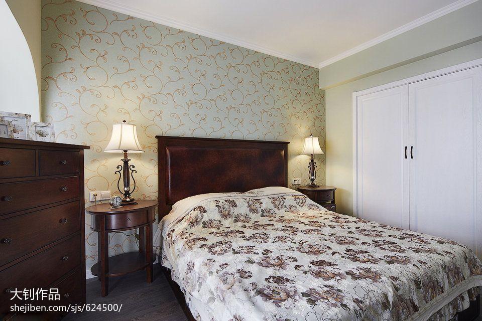 精美93平米三居卧室混搭装饰图片欣赏