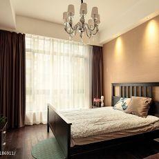 新中式深色调墙纸次卧室装修图片