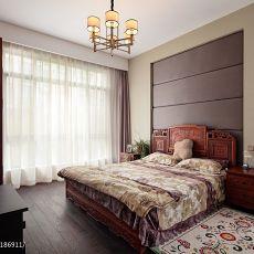 新中式老人房卧室装修效果图