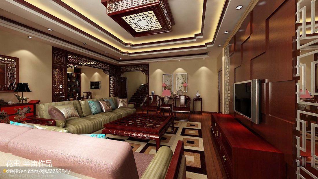 欧式客厅吊顶装饰设计效果图