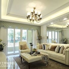 现代客厅实景图