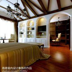 热门面积142平别墅卧室欧式实景图片大全