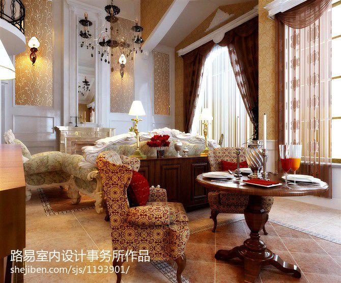 精选132平米欧式别墅客厅实景图