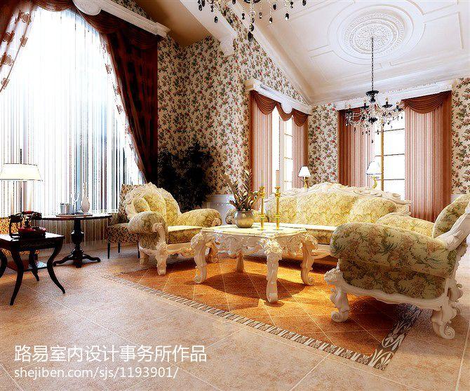 精美130平米欧式别墅客厅装修图片大全