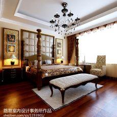 热门面积143平别墅卧室欧式装修效果图片