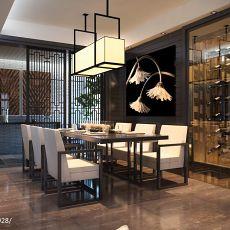 精选面积130平别墅餐厅现代装修设计效果图片欣赏