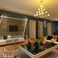 精美面积82平现代二居客厅装饰图