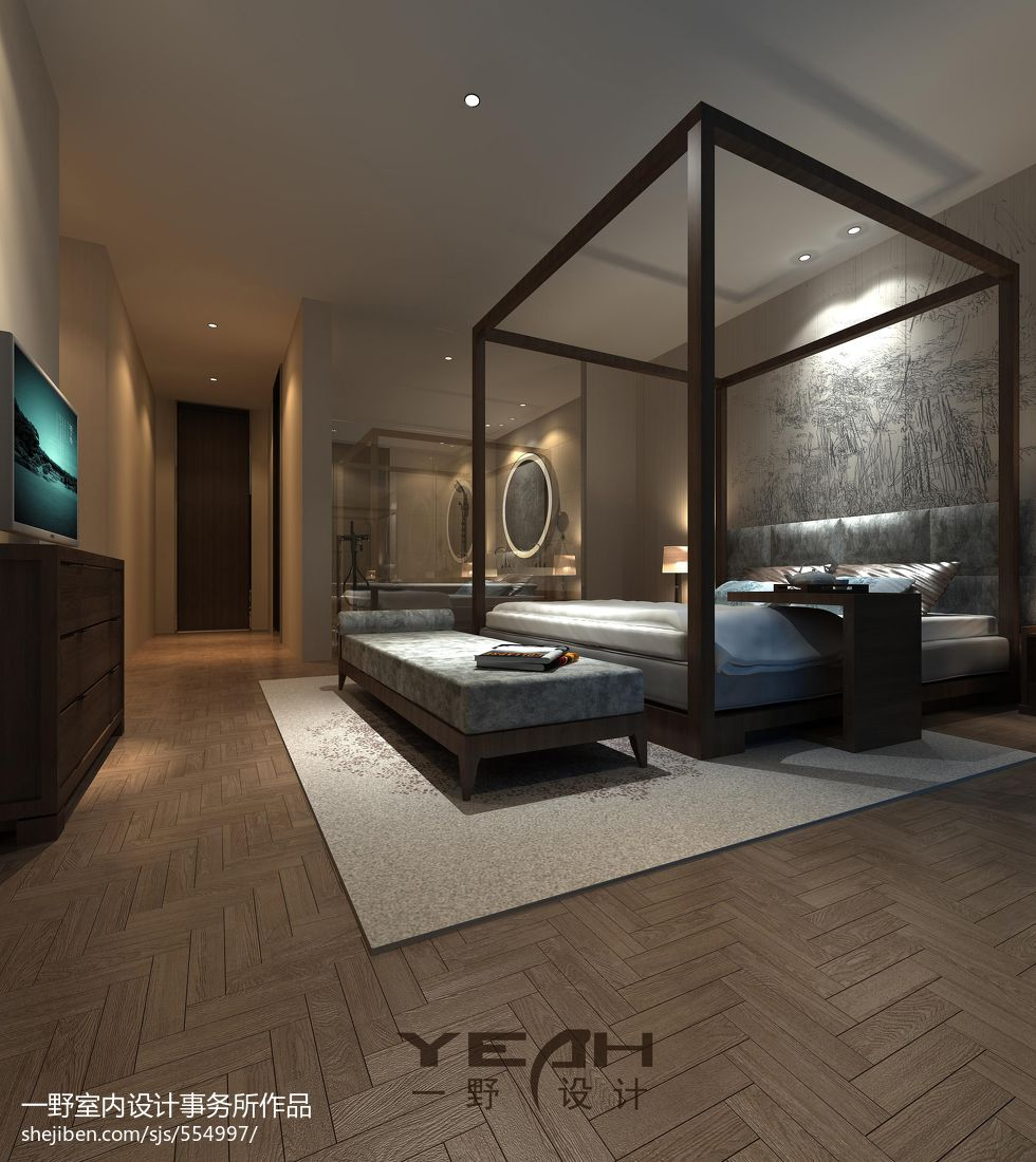 热门134平米混搭别墅卧室装修图片大全