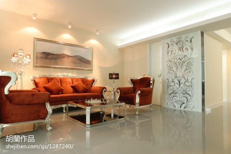 现代简约沙发背景墙效果图