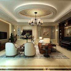 热门119平米欧式别墅客厅实景图