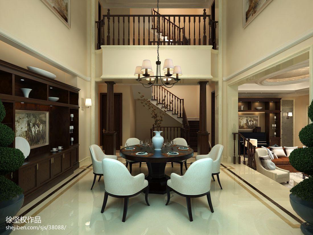 精选大小124平别墅餐厅欧式装修设计效果图片欣赏