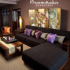 精美105平米三居客厅中式装饰图片大全
