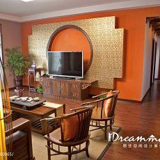 精选98平米三居客厅中式装修图片欣赏