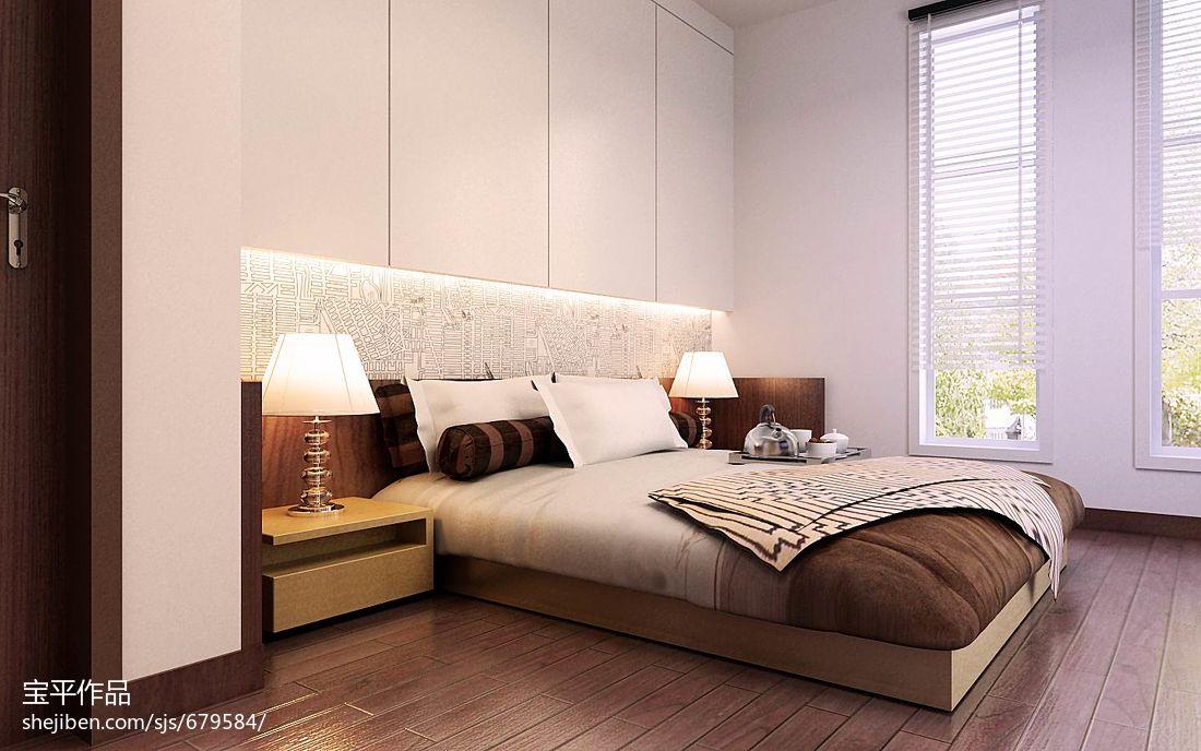 热门面积125平别墅卧室现代装修效果图片欣赏