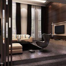 精选面积110平别墅客厅现代装饰图片大全