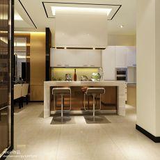 热门面积132平别墅厨房现代实景图片
