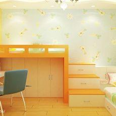 201876平米二居儿童房地中海装修设计效果图片大全