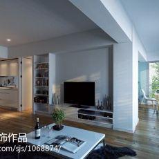 2018精选90平米三居客厅现代装修效果图片大全