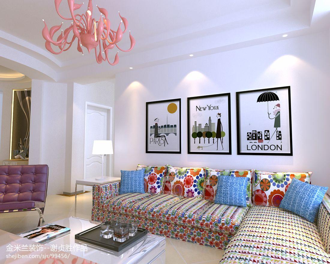 现代风格室内电视背景墙装饰图