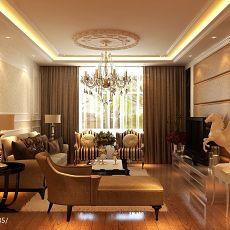 精美面积91平欧式三居客厅装修欣赏图片大全