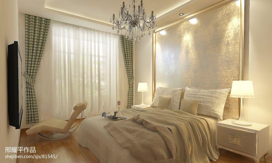 116平米中式别墅卧室装修欣赏图片